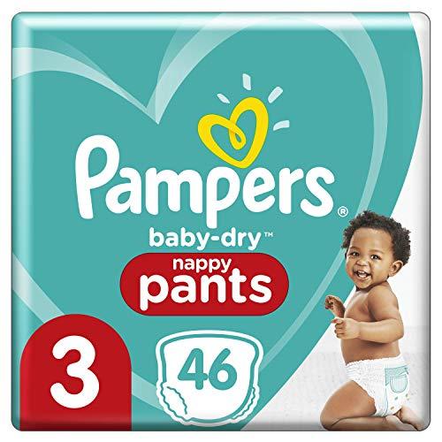 Pampers Pampers Windeln, Größe 3, 6 kg, 11 kg, Baby-Dry Pants, 46 Stück