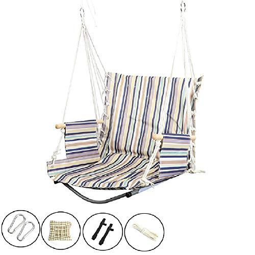 Balançoires YXX Chaise hamac d'intérieur for Enfant, Fille, garçon, Adulte Suspendue avec accoudoir en Bois, 1 Coussin de siège, capacité de 100 kg (Color : Style-1)