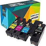 Do it Wiser Compatible Toner Cartridge Replacement for Dell E525W E525 525W | 593-BBJX, 593-BBJU, 593-BBJV 593-BBJW (Black, Cyan, Magenta, Yellow) - 4 Pack