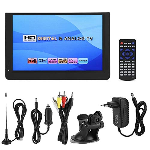 NIMOA LCD TV - 1080p Bewegende Mini 12 inch 16: 9 LED Handdigitale TV TV Speler