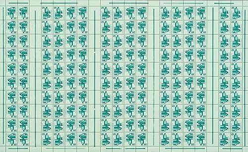 Goldhahn BRD Markenheftbogen Nr. 15  Unfallverhütung 1971  - Briefmarken für Sammler