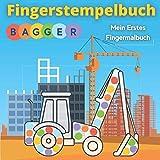 Fingerstempelbuch - Bagger: Mein erstes fingermalbuch