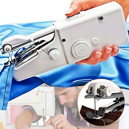 Purchase BABYCOW Mini Portable Sewing Machine Handheld Electric Stitch Household Tool for Kids Cloth...
