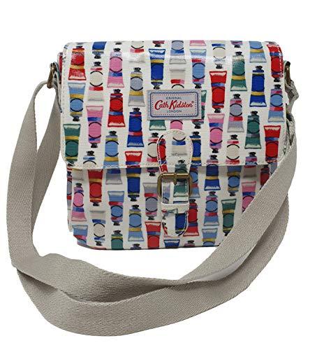 Cath Kidston 'Paint Tubes' Mini satchel, cross body, shoulder bag in stone oilcloth