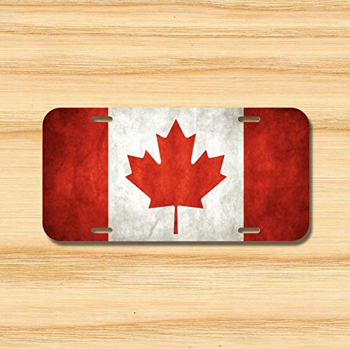 Canada Canadian Flag License Plate Vehicle Auto Tag Ottawa Quebec Novelty Accessories License Plate Art