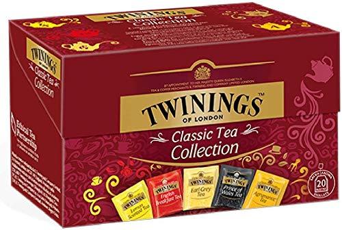 Twinings Classic Tea - Collection - Spezialpackung mit 5 verschiedenen Classic-Tees: Englisches Frühstück, Earl Grey, Agrumance, Zitronenduft, Prince of Wales (40 Beutel)
