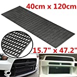 Blossom store Universal ABS Plastic Racing Honeycomb Durable Mesh Grill Spoiler Bumper Vent 16' x 47'