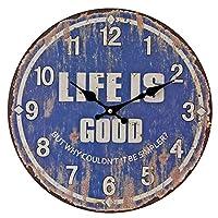 クロック 壁掛け時計,壁時計 ビンテージウォールクロック ウォールデコレーション 壁に取り付けられた、 クリエイティブ ミュート 大型ホームキッチン リビングルーム,35cmindiameter