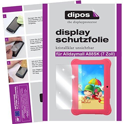 dipos I 2X Schutzfolie klar kompatibel mit Alldaymall A88SK 17,8 cm (7 Zoll) Folie Displayschutzfolie