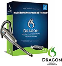 Nuance Dragon Medical Practice Edition 2 with Wireless Headset and Maintenance - 1 License Retail Box