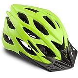 Basecamp Specialized Bike Helmet, Bicycle Helmet CPSC&CE Certified with Helmet Accessories-LED Light&Removable Visor&Portable Bag Cycling Helmet BC-DDTK Adjustable for Men/Women(Green)