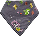 Piccalilly - Babero bandana unisex para bebé, forrado con toalla de rizo absorbente, animales del bosque grises