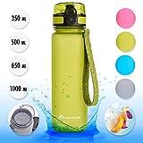 Meteor Bottiglia Acqua Senza BPA Borraccia per Bambini Adolescenti e Adulti Ideale per Bici Sportivo Campeggio Scuola Ufficio Palestra Plastica Tritan Diverse Dimensioni e Colori (500ml, Verde)