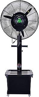 Silencio Ventilador con soporte de pie Ventilador oscilante, ventilador de pie, 3 velocidades, Pedestal grande, ventilador de circulador de aire para toda la habitación con tanque de agua (42 l)negr