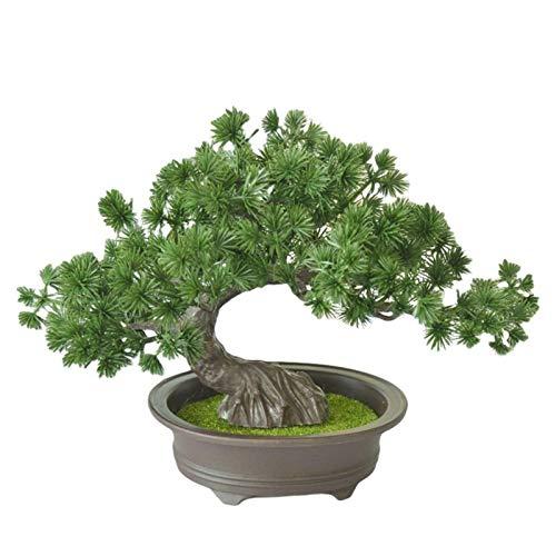 Artificial Bonsai Pine Tree, Simulation Potted Plant DIY Decorative Bonsai, Desk Display Fake Tree Pot Ornaments for Home, Office, Shop