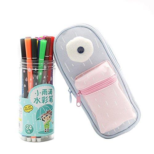 Ssowun Trousse Scolaire,Trousse Papeterie Pouch école Stylo Crayon Organiseur Cute Trousse à Maquillage