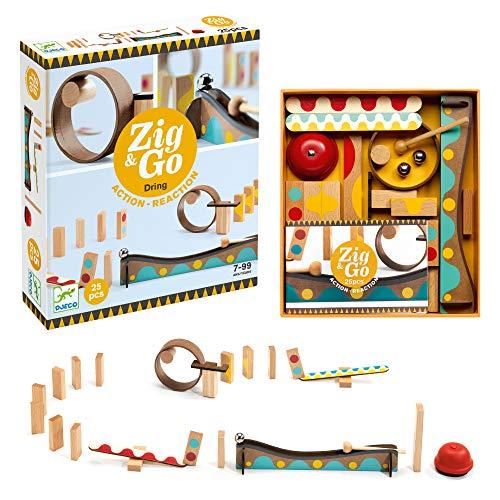 DJECO- Construcción pcs Construction Zig & Go – 25 pièces (35642), Multicolore
