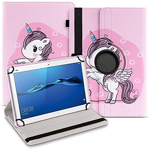 UC-Express Tablet Hülle kompatibel für Huawei MediaPad M2 10.0 Tasche Schutzhülle Hülle Cover 360° Drehbar, Farben:Motiv 13