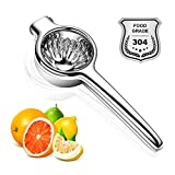 Raylking Jumbo Lemon Squeezer 304 Stainless Steel Manual Juicer, Premium Quality Manual Citrus Press Juicer with 3.35 Inch Super Large Bowl, Perfect for Juicing Oranges, Big Lemons & Limes