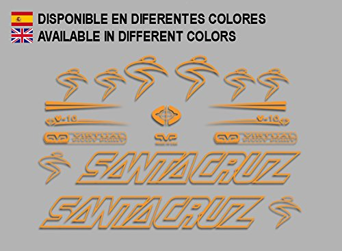 Ecoshirt BX-RU6E-F3BR Adesivi Santa Cruz V10 F129 Stickers Aufkleber Decals autocollants autocollants, Orange