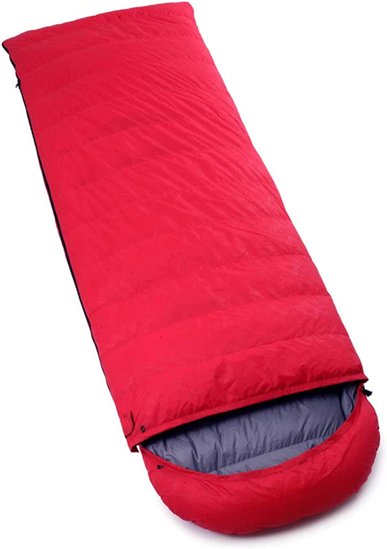 Durable,ComfortableSleeping Bag, Indoor Thick Warm Sleep Sack Adults Envelope Waterproof Sleep Bags Lightweight Outdoor Camping Hiking Sleeping Pad,red,2000g