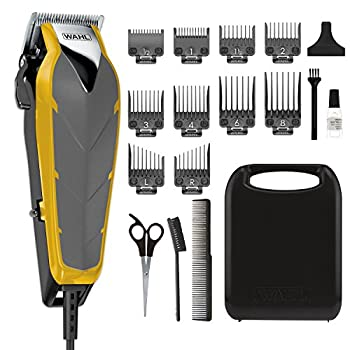 Wahl Clipper Fade Cut Haircutting Kit for Blending and Fade Cuts with Extreme-Fade Precision Blades Heavy Duty Motor Secure-Snap Attachment Guards and Fade Lever for Home Haircuts - Model 79445