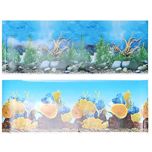 Balacoo Aquarium Hintergrund Aufkleber 3D doppelseitige Tapete Aquarium dekorative Unterwasser Hintergrundbild Dekor Aufkleber