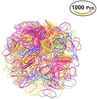 Frcolor 1000 Pieces Elastic Bands Hair Rubber Bands,(Mixed Color)