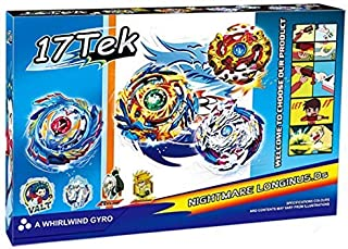 17Tek Battle Gyro Evolution Attack Pack Battling Top Game Star Storm Complete Set with Gyro, Launcher Grip, Arena Stadium and Stickers (2)