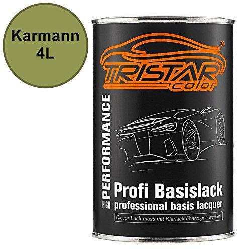TRISTARcolor Autolack Dose spritzfertig für Karmann 4L Green Tendence Metallic Basislack 1,0 Liter 1000ml