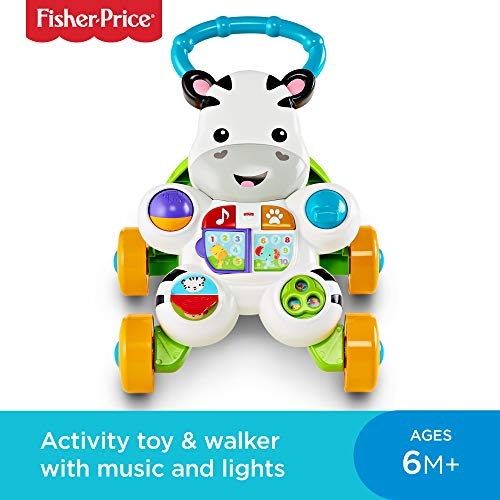 Fisher-Price DLF00 Learn with Me Zebra Walker, Baby or Toddler Walker and Electronic Educational Toy with Music and Sounds