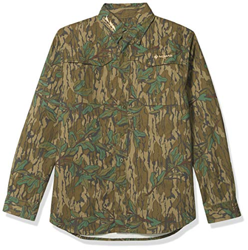 Nomad Outdoor Nwtf Woven Shirt Ls, Mossy Oak Greenleaf, XXX-Large