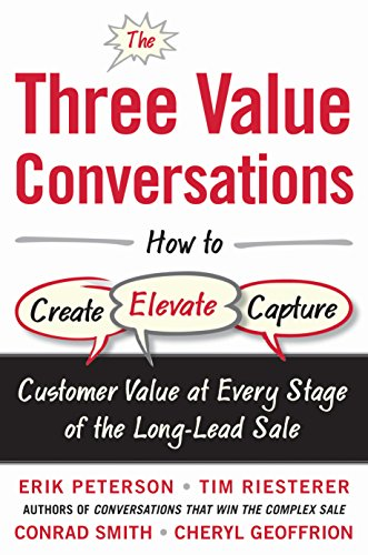 The Three Value Conversations: How to Create, Elevate, and Capture Customer Value at Every Stage of the Long-Lead Sale (English Edition)
