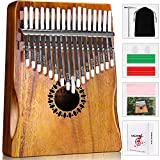 Kalimba Thumb Piano 17 Keys, Portable Mbira Finger Piano Gifts for Kids and Adults...