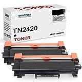 SMARTOMI - 2 cartucho de tóner negro de alto rendimiento compatible con cartuchos TN2420 para impresoras Brother HLL2350DW MFCL2710DW DCPL2530DW HLL2375DW DCPL2510D y HLL2370DN (con chip 3000 páginas)