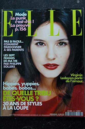 ELLE 2885 16 avril 2001 cover Virginie LEDOYEN + 6 p. - Cate BLANCHETT Lou DOILLON Vincent Mac DOOM- 212 pages
