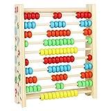 Ábaco Vertical Infantil de Madera para Juegos Educativos Juguetes para Niños 3 4 5 Años de Aprendizaje Matemático