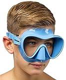Cressi F1 Scuba and Snorkeling Frameless Mask - Blue