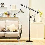 CO-Z Industrial Pulley Floor Lamp Adjustable,...