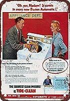 1955潮洗剤コーヒーハウスまたはホームメタルティンサイン