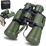 20x50 ad alta potenza militare binocoli, hd professionali/giornalieri binocolo impermeabile per adulti birdwatching viaggio calcio - bak4 prisma fmc lens