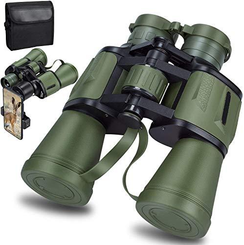 20X50 Ad Alta Potenza Militare Binocoli, HD Professionali Giornalieri Binocolo Impermeabile per Adulti Birdwatching Viaggio Calcio - BAK4 Prisma FMC Lens