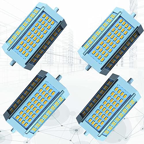 Bombilla LED R7S de 30 W, 118 mm, Regulable, de Doble Extremo, J118, Equivalente a 250 W de Repuesto para lámpara halógena Tradicional y Reflector de Seguridad(4-PC)