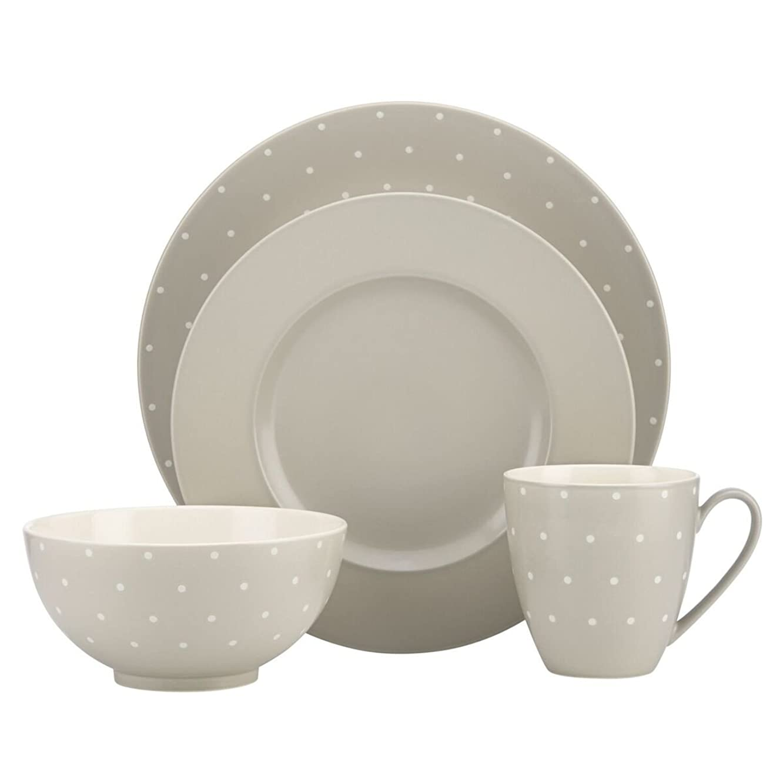 kate spade new york Larabee Dot Dinnerware Set - Grey - 4 pc