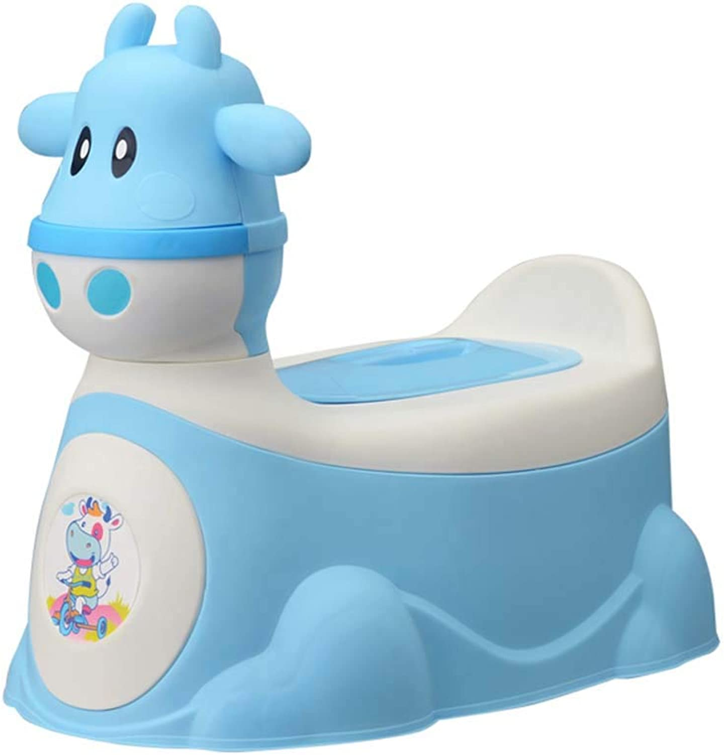 Baby Potty Chair - Removable, Easy Clean,High Back Rest, Comfortable Ergonomic Design,Non-Slip Feet,Potty Training Your Boy Or Girl – for Happy Toddler Potty Training,bluee