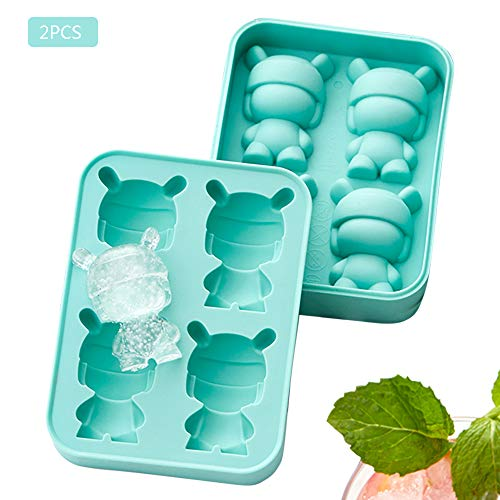 Eiswürfelschale Cartoon Rabbit Ice Grid Silikon Schnellgefrierschrank Gefrorene Eiswürfelform Eismaschine Mischen Nahrungsergänzungsmittel Hausgemachte Eiswürfel Hoch- und Niedertemperaturbeständig