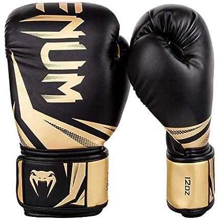 VENUM Challenger 3.0 Guantes de Boxeo, Unisex Adulto, Negro/Dorado, 12 Oz