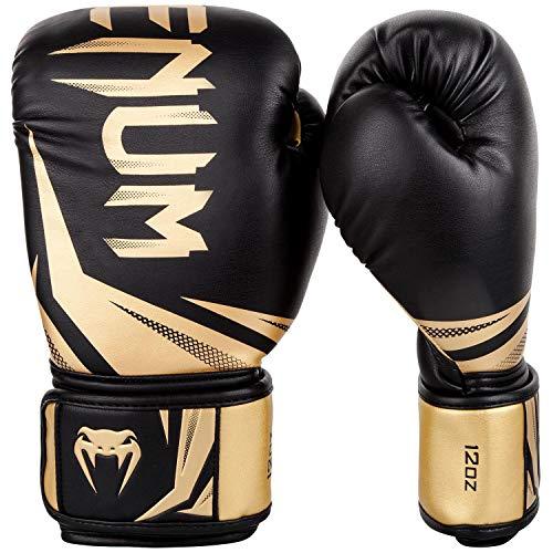 Venum Boxhandschuhe Challenger 3.0, Schwarz/ Gold, 12 oz, VENUM-03525-126-12oz