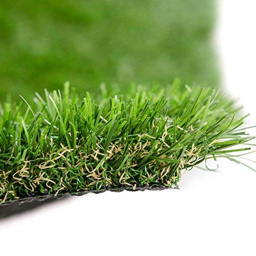 Kunstrasen Cambridge | Rasenteppich | Rollrasen | Polhöhe: 25 mm | Robust & UV-stabil | Kunststoffrasen | Garten-Rasen | Rasen für Balkon, Terrasse & Garten (133 x 400 cm)