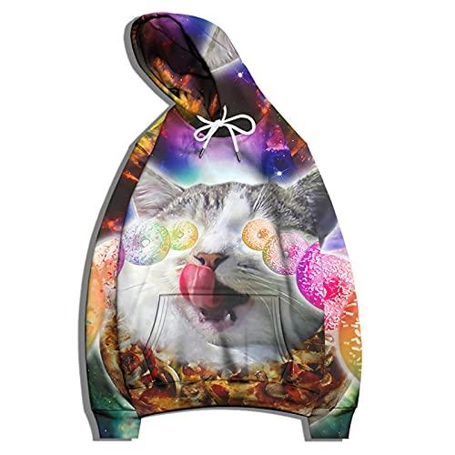 XDJSD Suéter con Capucha para Hombre, Sudadera para Niño, Suéter De Pareja De Moda De Gran Tamaño, Estampado Animal, Chaqueta Informal Suelta De Gran Tamaño